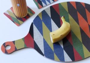 Harlequin cutting board