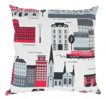 Cushion cover Stockholm red 1
