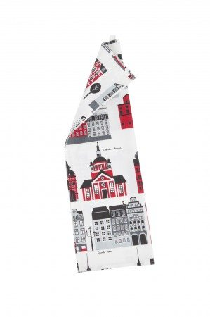Kitchen towel My Stockholm red