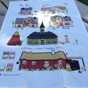 Sigtuna kitchen towel. Made in Sweden cotton/linnen.