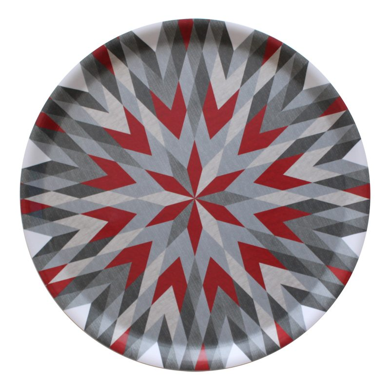 Harlequin Star tray grey light red lr photo