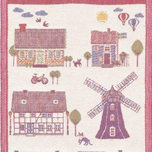Kvarnvik is one of the kitchen towels I have designed for Ekelund in beautiful linen. It has illustrations of lovely houses from the south of Sweden. Ekelund weavers was established in 1692.