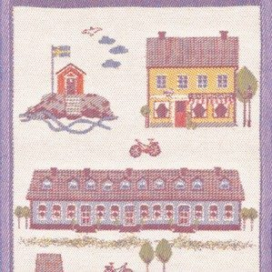 Sjövik is one of the kitchen towels I have designed for Ekelund in beautiful linen. It has illustrations of lovely houses by the sea. Ekelund weavers was established in 1692.