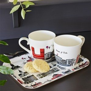New Houses of Oslo mugs in bone china. Produced in Germany.