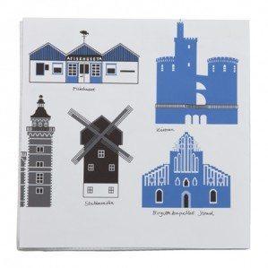 Mitt Skåne papperservett i blått.Mitt Skåne paper napkin in blue.