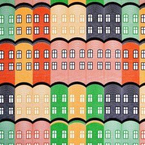 Stad tyg i gult för Arvidssons Textil. Stad är ett husmönster som är inspirerat av gamla engelska fabriksbyggnader. Stad tyg finns i tre färgställningar; gult, blått och grönt och produceras och säljs genom Arvidssons textil. För mer info om inköpsställen se deras hemsida: www.arvidssonstextil.se  Stad fabrik in blue for Arvidssons Textil. Stad is a house patter, inspired by old Brittish factories. Stad fabrik comes in three colours; yellow, blue and green and is manufaktured by Arvidssons textil. For more info about where you can buy it have a look at: www.arvidssonstextil.se