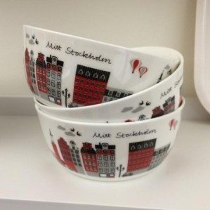 Mitt Stockholm bowl in bone china in red will be launched at Formex Citronelles  B03:49 on wednesday! Welome!
