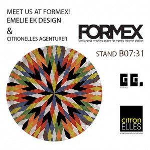 Träffa oss på Formex, monter B07:31! Emelie Ek Design hos Citronelles Agenturer!Meet us at Formex, stand B07:31! Emelie Ek Design with Citronelles Agenturer!