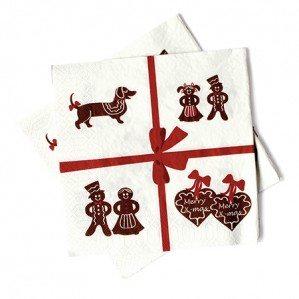 Gingerbread papperservett är en av nyhterna för Emelie Ek Christmas Collection AW 15! I kollektionen ingår även brickor i svart och i vitt, en kökshandduk, en disktrasa liksom en mugg i benporslin.