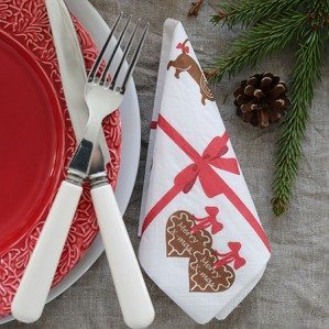 New for Christmas 2015 in our popular Gingerbread Collection is a new set of paper napkins! Lovely to to use for Christmas parties! Produced by well known Duni from Sweden.