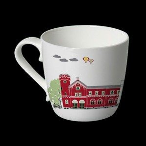 Houses of Alingsås mugg i benporslin.Houses of Alingsås mug in bone china.